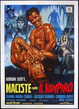 CINEMA-manifesto MACISTE CONTRO IL VAMPIRO scott, canale, sernas, GENTILOMO