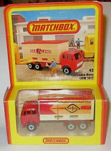 RARE MATCHBOX GERMAN Hosbach BOX CONFERN # 42 MERCEDES CONTAINER TRUCK MIB