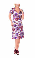 Viscose Casual Multi-Colored Plus Size Dresses for Women