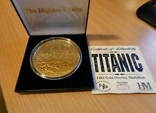 Titanic 24k Gold Plated medallion Highland Mint  Ltd Edition