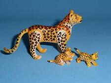 Playmobil New Style Leopard / Cheetah Mother & Baby Cubs zoo safari NEW