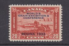 Canada Sc 203 MNH. 1933 20c World's Grain Exhibition, Regina ovpt