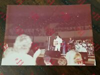 1976 Candid Fan Photograph Elvis Presley Fayetteville Concert On Stage Gibson