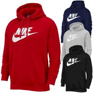NIKE Mens Hoodie BV2973 Sportswear Club Fleece Graphic Pullover Sweats S M L XL