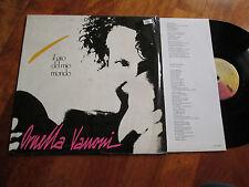 ORNELLA VANONI Il Giro Del Mio Mondo LP MINA NO CD ITALY INNER SLEEVE LYRICS