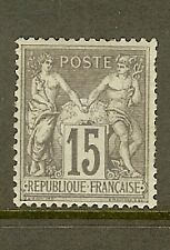 "FRANCE STAMP TIMBRE N° 77 "" SAGE 15c GRIS TYPE II "" NEUF x A VOIR"