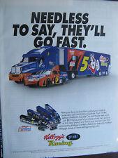 "2003 Frosted Flakes Racing Ad--Kellog's Racing-8.5 x 10.5""-Original Print Ad"