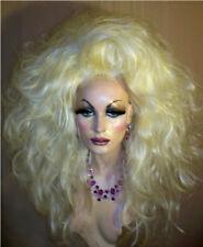 Drag Queen Wig Big Teased Huge Two Tone Bleached Blonde Long Wavy