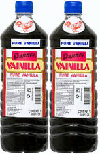 2X Dark Danncy Pure Mexican Vanilla Extract 33oz1L Ea Plastic Bottle From Mexico