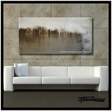 ABSTRACT MODERN  PAINTING CANVAS WALL ART 48in Large US Signed ELOISExxx