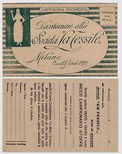 "#MILANO: CARTOLINA RICHIESTA SOC. ""LA TESSILE"""