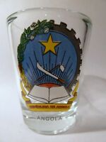 ANGOLA COAT OF ARMS SHOT GLASS SHOTGLASS