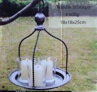 Windlicht*Kerzentablett*Leuchterschale*Teelichthalter*Windlicht*Hänger*Kerze*