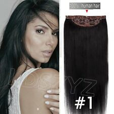 THICK 100% Real Human Hair Full Head Clip in Remy Hair Extensions One Piece Hair