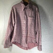 Vintage Retro Grunge Shirt Polyester Blend Knit Maroon Large