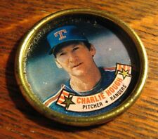 Charlie Hough Texas Rangers Button Coin - Vintage 1988 Topps MLB Baseball Player