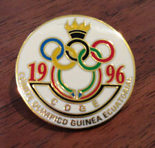 Vintage Equitorial Guinea National Olympic Committee (NOC) Pin from 1996 Atlanta
