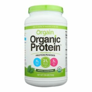 Organic Protein Powder Unsweetened 1.59 lbs by Orgain