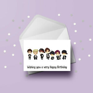 BTS 04 Birthday Card - Free 1st class postage
