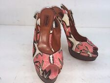 MISSONI HEEL PUMP SIZE 36.5 NEW MEDE IN ITALY MULTICOLORED MSRP 425