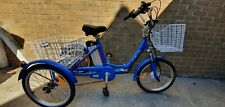"""Jorvik foldable electric tricycle - Blue - 17"""" inch Frame"""