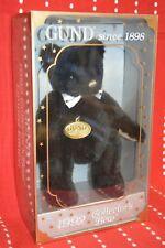"""Vintage New Old Stock 1992 Collectible Gotta Getta Gund Black Bear 9"""" Box Nrfb"""