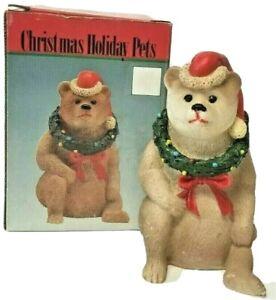 Vintage Christmas Holiday Pets Bear 1993, In Original Box