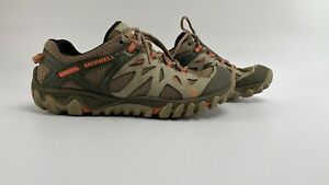 Merrell Women All Out Blaze Aero J32816 Taupe Pink Hiking Shoes Lace Up Size 9.5