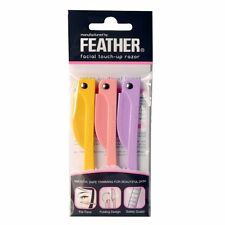 Feather Flamingo Facial Touch-up Razor / Pack of 3 Razors