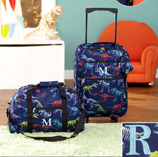 Luggage for Kids Boys Set Small Rolling Suitcase Duffel Bag Dinosaur Letter R