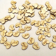 New Fashion Wooden Mini Love Heart Loose Beads Charms Wedding Party Craft Decor