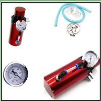 Can Disassembled Aluminum Engine Oil Reservoir Catch Can +Vacuum Pressure Gauge