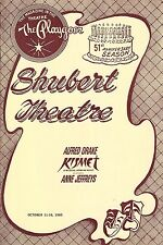 "Alfred Drake ""KISMET"" Anne Jeffreys / Wright and Forrest 1965 New Haven Playbill"
