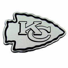 Kansas City Chiefs Premium Solid Metal Chrome Auto Emblem Team Logo Car Decal