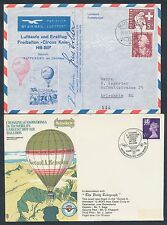(3) DIFFERENT BALLOON MAIL FLIGHT COVERS 1958, 1970, & 1975 BR6234