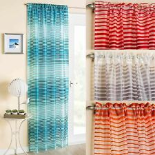 Polyester Striped Contemporary Curtains & Pelmets