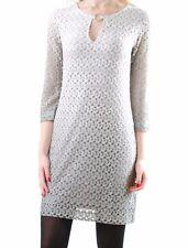 Ana Alcazar Damen Neue elegante 3/4 langes Hülsen-Kleid Grau Größe 38
