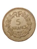 FRANCE 5 FRANCS 1946 RF Francaise free UK post Kayihan coins T1