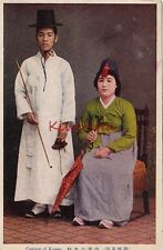 Postcard Traditional Korean Costumes Korea