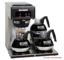 Restaurant Coffee Maker Bunn VP17-3 Commercial Pourover Brewer with 3 Warmers