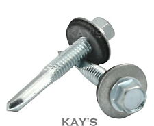 SELF DRILLING TEK SCREWS WITH SEALING WASHERS ZINC PLATED FOR HEAVY THICK METAL