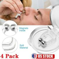 4 Pack Silicone Clipple Magnetic Anti Snore Stop Snoring Nose Clip Sleeping Aid