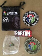 2020 Spartan Race trifecta x2 Medal + Goody Bag New Patch Delta Coin Never Worn