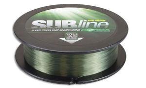 Korda NEW Subline Carp Fishing Mainline 1000m Green *All Breaking Strains*