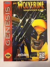 Wolverine Adamantium Rage - Sega Genesis - Replacement Case - No Game
