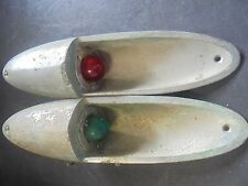 "Vintage Boat Chris Craft  Bow Navigation Lights 12""L 3"" DIA CHROME PLATED BRONZE"