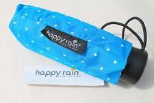 Happy Rain kleiner Regenschirm für die Handtasche 16 cm ultra mini hellblau Dots