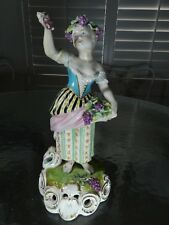 Early Derby Figurine Soft Paste Porcelain Figurine Girl & Grapes 1782-1825 Rare