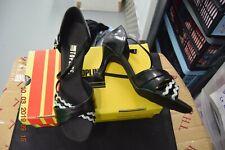 Black and silver Katz/Topline Topob social ballroom/latin dance shoes-size 6