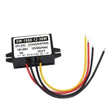 Dc 24V36V48V Stepdown to Dc 12V 3A Converter Regulator Car Power Supply Adaptor